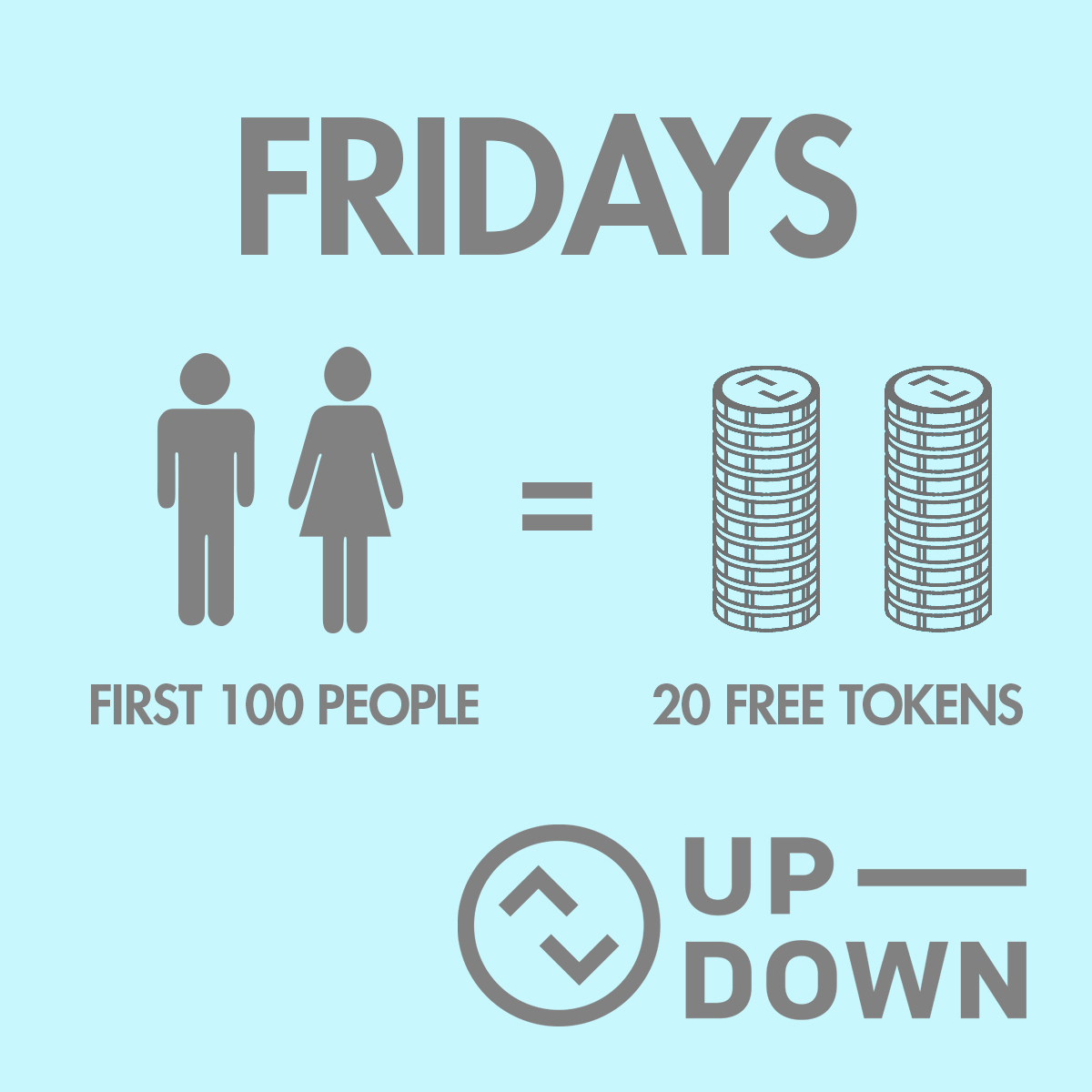 20 Free Tokens To The First 100 Guests @ Up-Down KC |  |  |