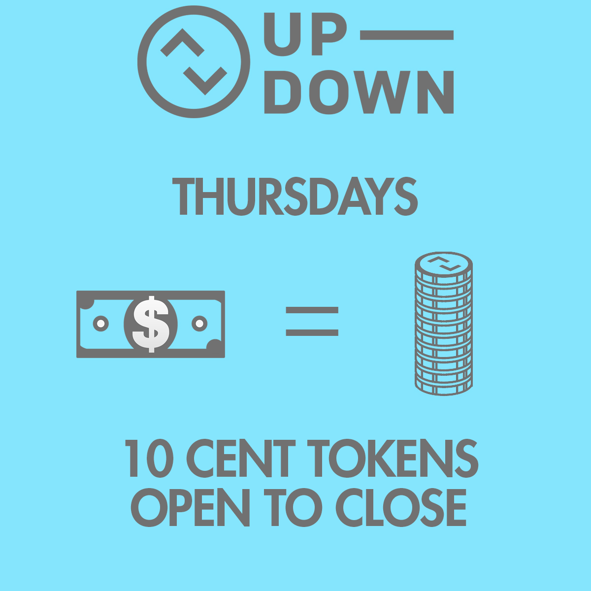 10 Cent Tokens @ Up-Down KC |  |  |