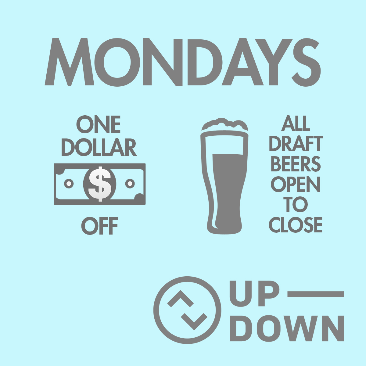 $1 Off All Draft Beers @ Up-Down KC |  |  |