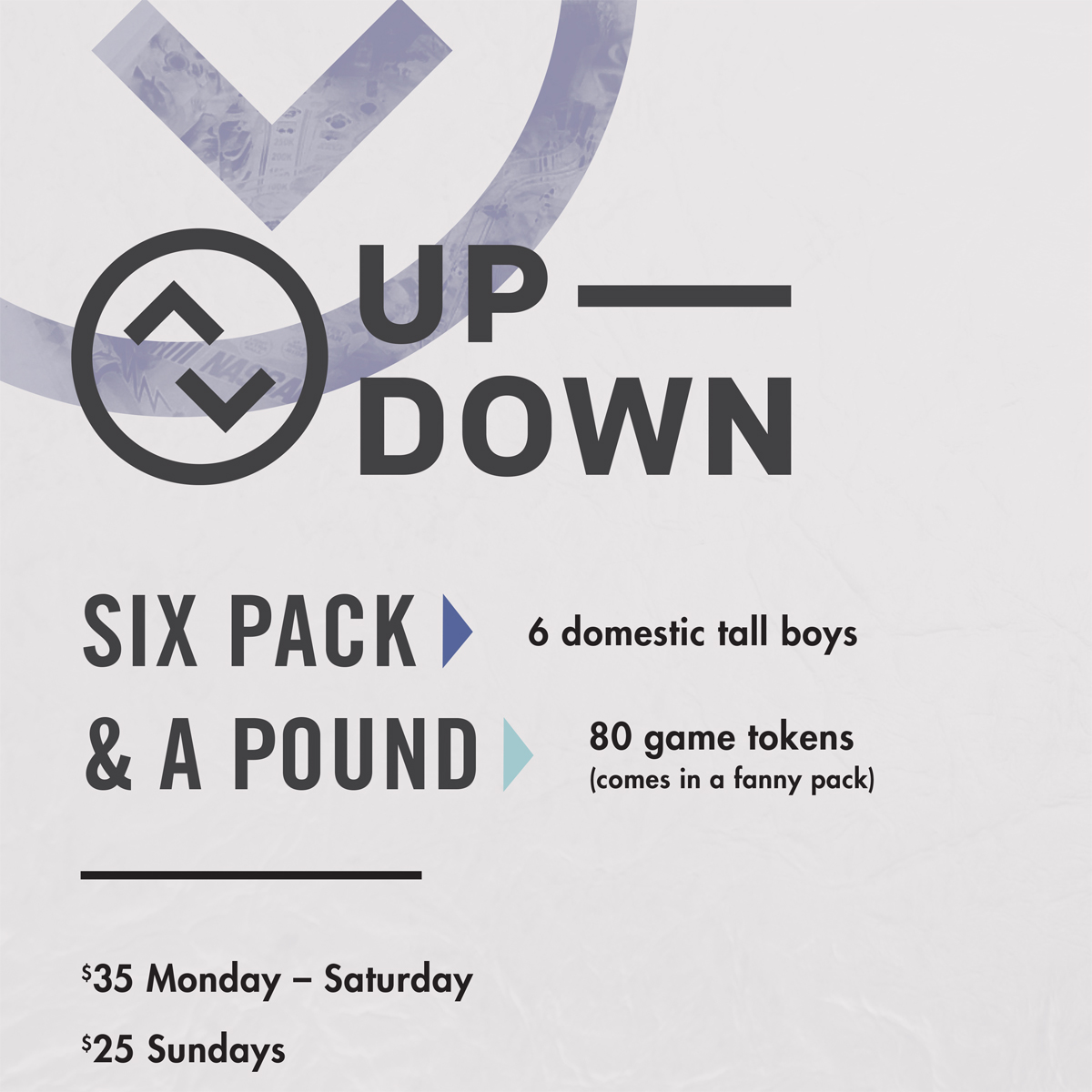 $25 Six Pack & A Pound @ Up-Down KC |  |  |
